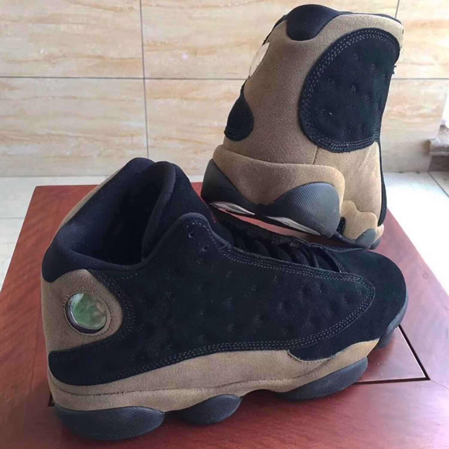 buy popular 36135 dbc57 Another Look at the Air Jordan 13 'Olive' Shows Suede Uppers ...