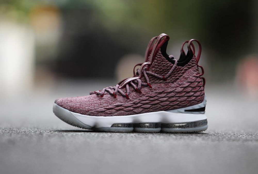 factory authentic a6fda 95d16 Nike-LeBron-15-Burgundy- 2 - WearTesters
