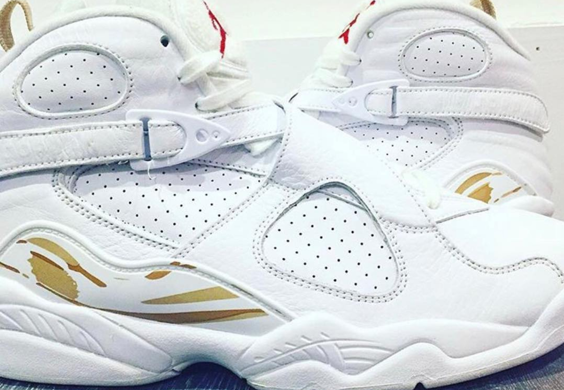size 40 5189e 6d68f The OVO Air Jordan 8 for 2018 Surfaces in White/Gold ...