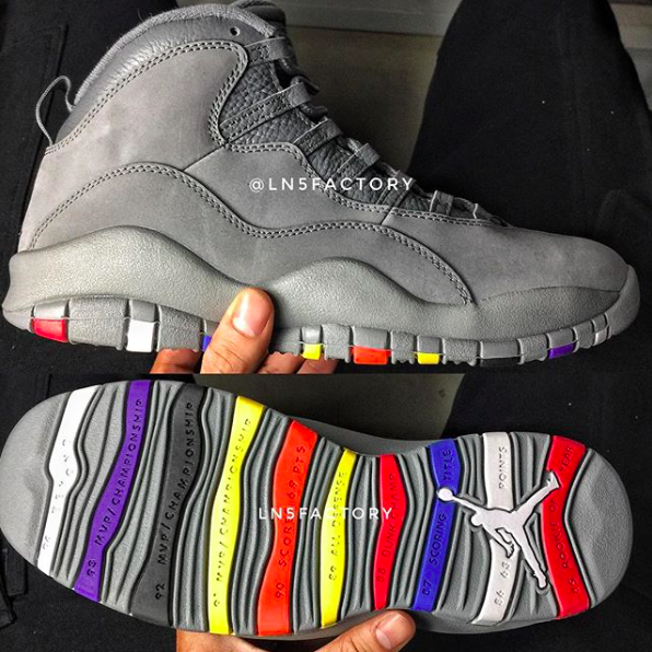 check out 84de1 9a830 First Look at This Gray/Multicolor Air Jordan 10 Retro for ...