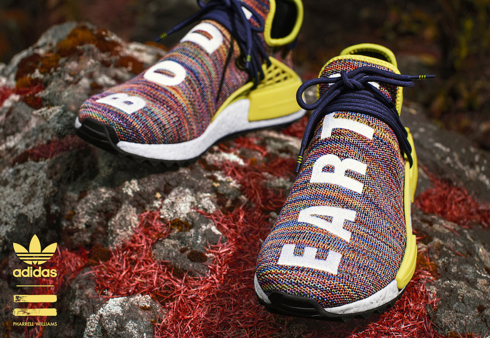 various colors d1a65 04d4b Pharrell and adidas Unveil Four Hu NMD TR Colorways for the ...