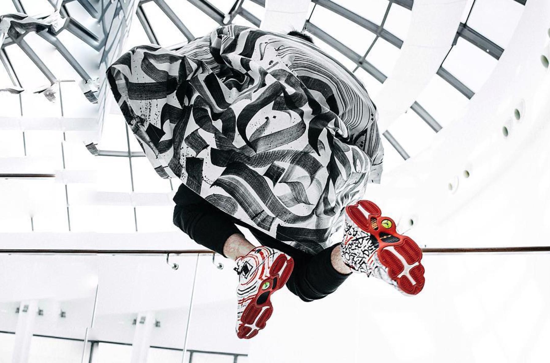 Air Jordan 13 CALLIGRAFUTURISM Custom Pokras Lampas 4