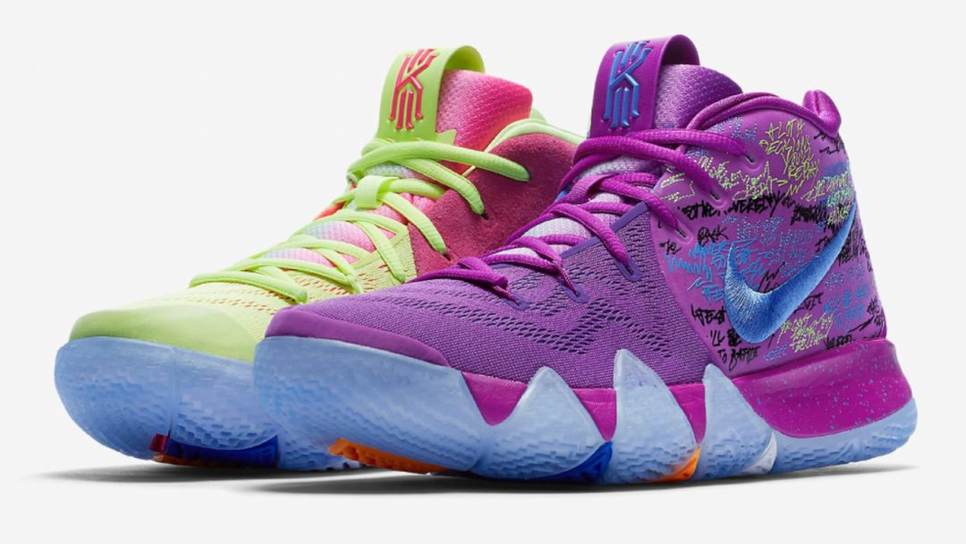 6b1368fbcde5 2018 Nike Kyrie 4 Confetti Blue And Grey