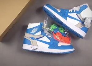 Fake Off White Air Jordan 1s For Unc Surface Online