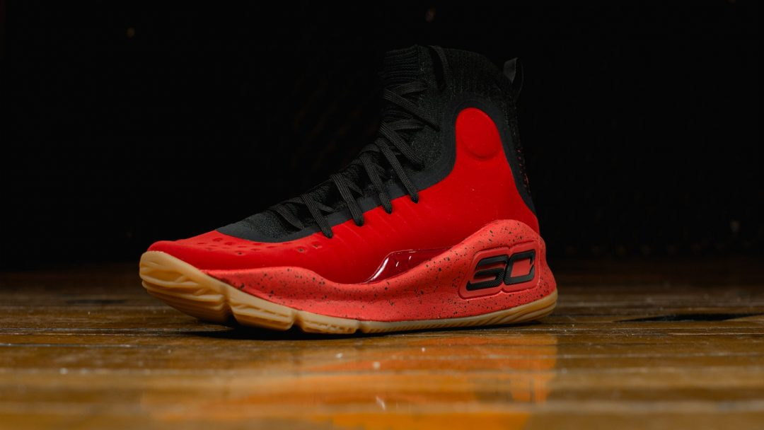 Under Armour Curry 4 Black Red Latest