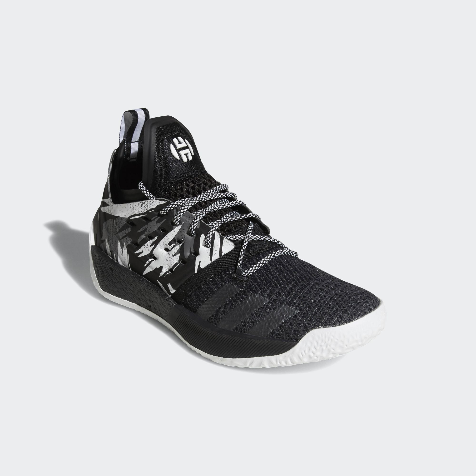 e053b051a21b 2 black white red shoes  adidas harden vol 2 black white 2