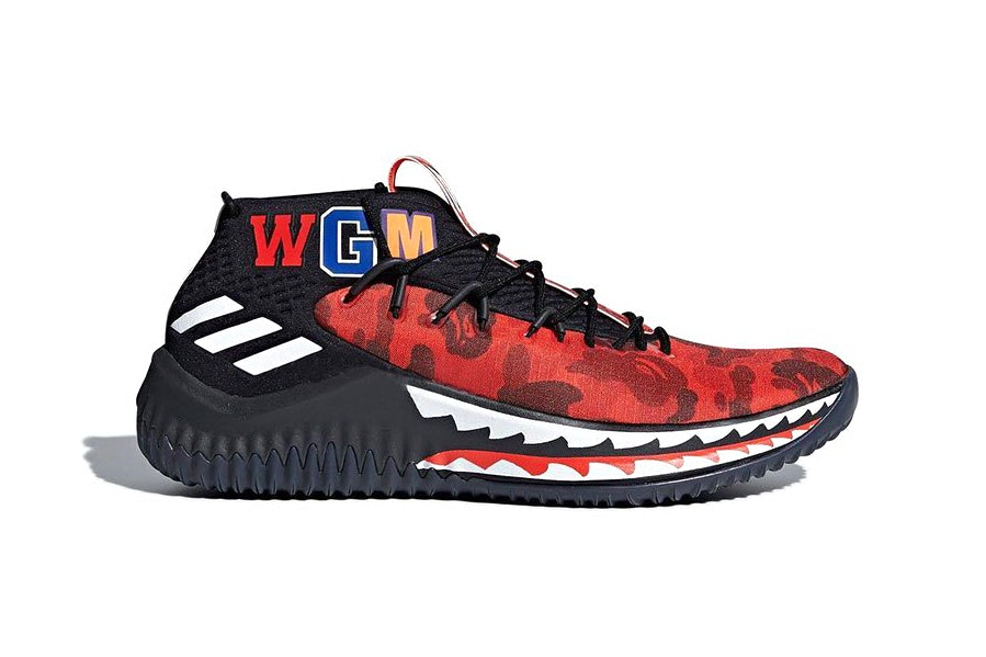 cheap for discount 596b3 2a263 A Third BAPE x adidas Dame 4 Exists, But You Probably Won't ...