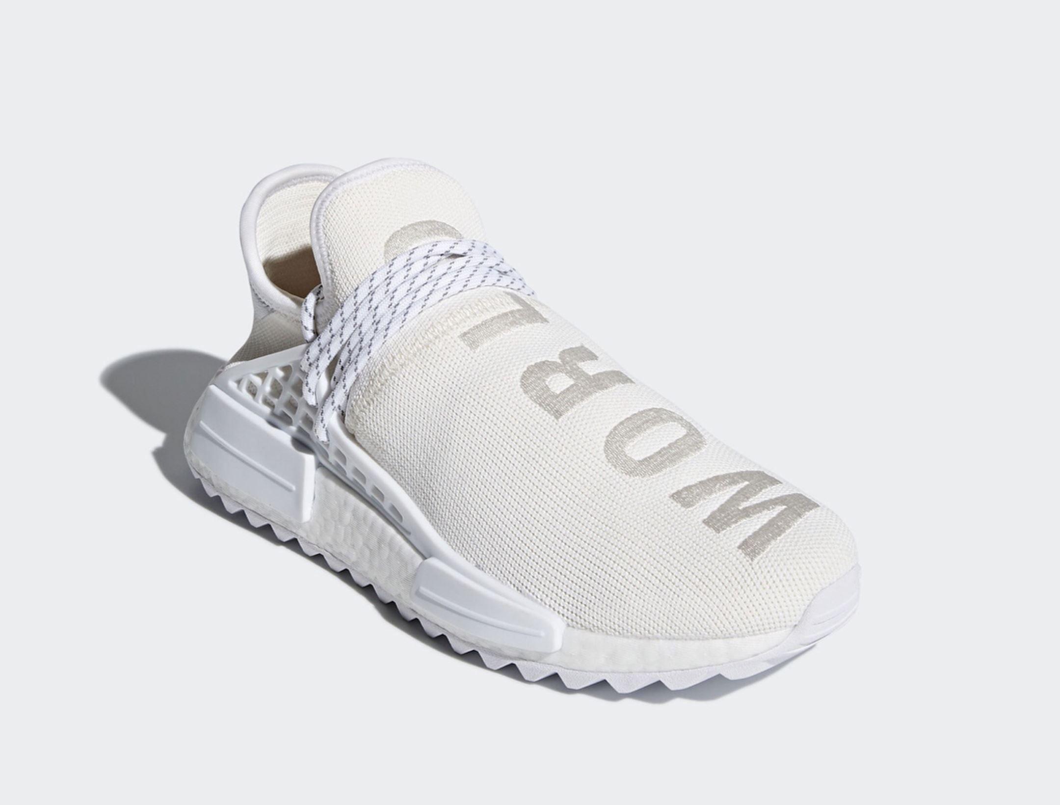 The White on White adidas Originals Hu