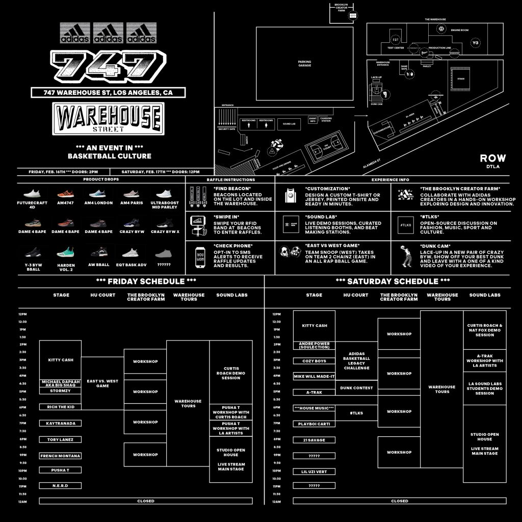 adidas announces full schedule for its 747 warehouse st basketball