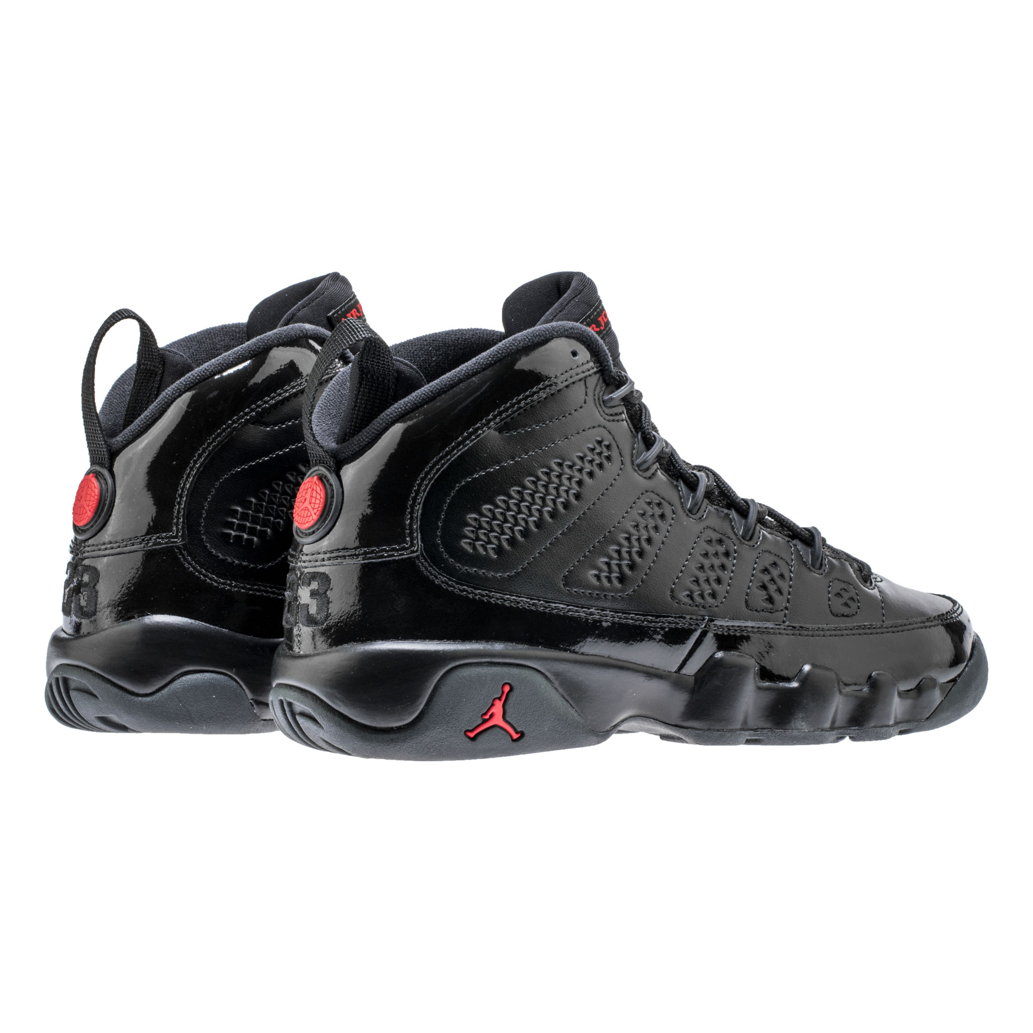 The Air Jordan 9 in Black/University Red Drops for March ...Jordan 9 Black And Red And Silver