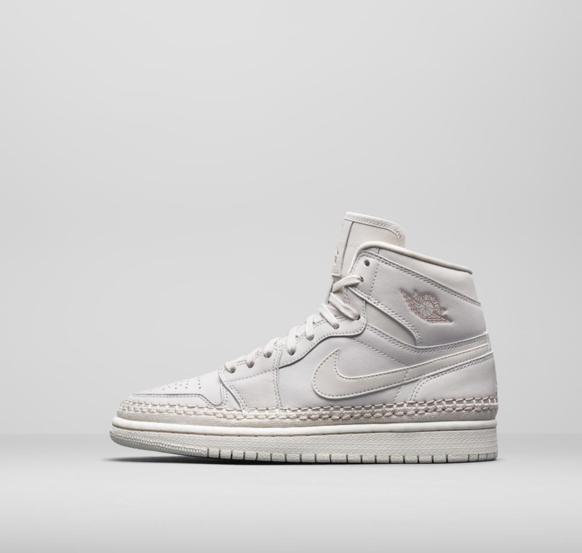 Both will feature a premium leather upper, as well as a roped lace design  along the midsole. The roped lace design sits above the traditional Air  Jordan 1 ...