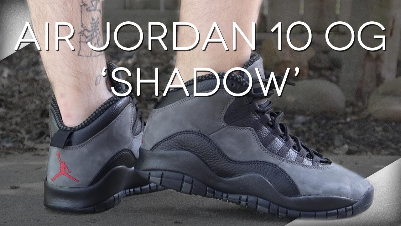 2018 Air Jordan 10 'Shadow' | Detailed