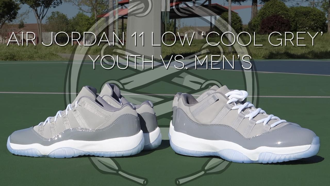 best service 58265 2f722 Air Jordan 11 Low 'Cool Grey' Review | Youth vs Men's ...