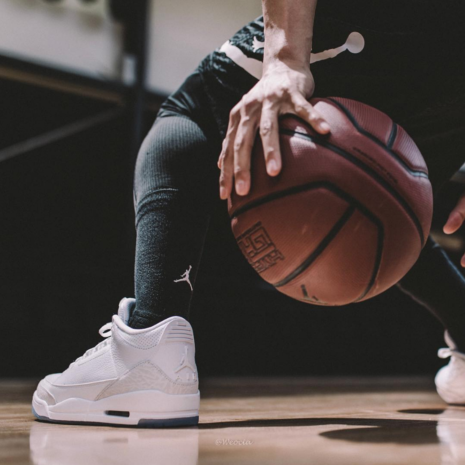 new products 95b90 0e6ec Air-Jordan-3-Pure-White-On-Foot-2 - WearTesters