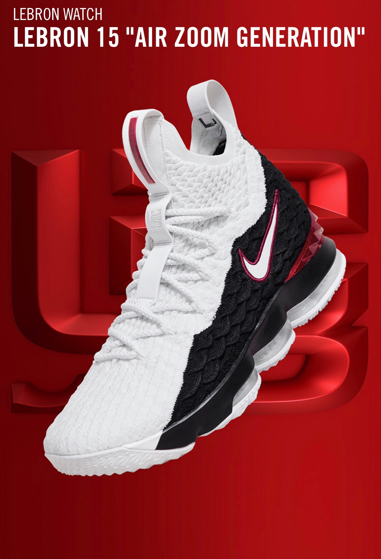 new arrival c68ac 9b921 LeBron James Rocked the Nike LeBron 15 'Air Zoom Generation ...