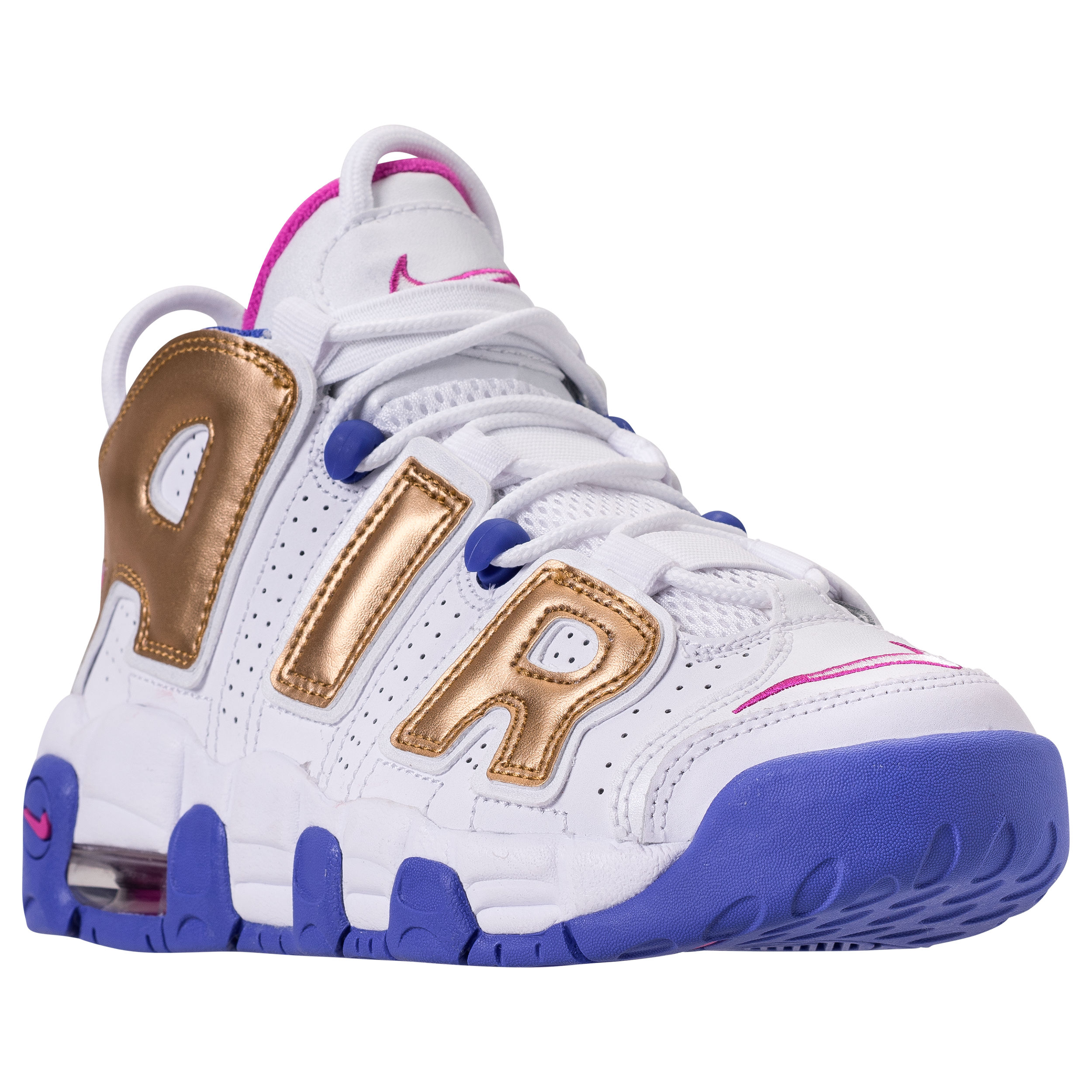 new styles 98a4f 0803a ... where to buy nike air more uptempo gs whitefuscia blastmetallic  goldracer blue 1 78b15 a2737