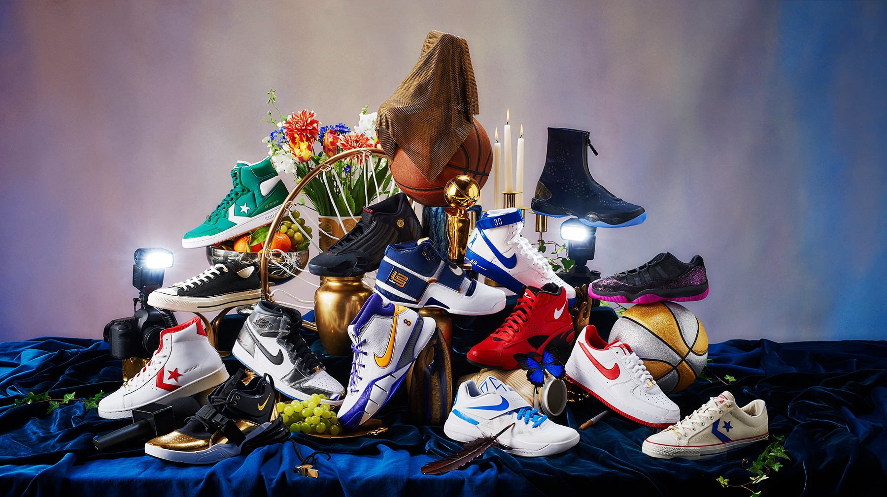 nike celebrates historic playoff moments with art of a