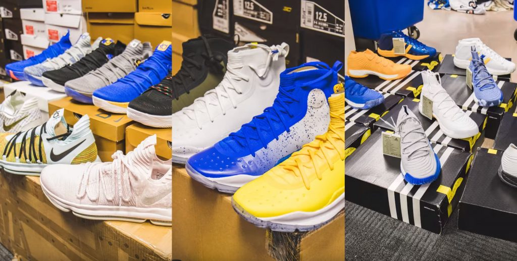 You Won T Believe How Many Sneakers The Golden State Warriors Travel