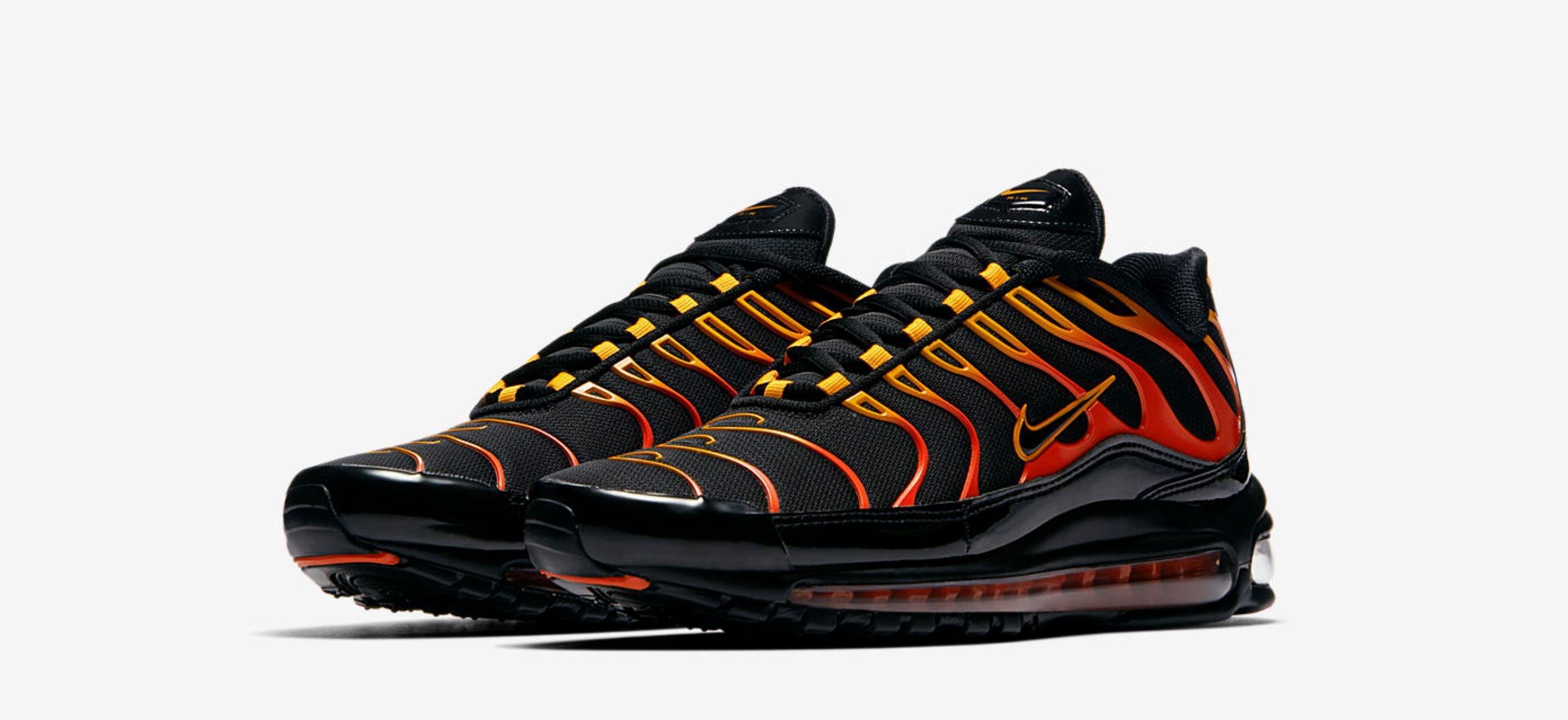 online store fab98 707ce Flame On with the Nike Air Max Plus 97 'Shock Orange ...