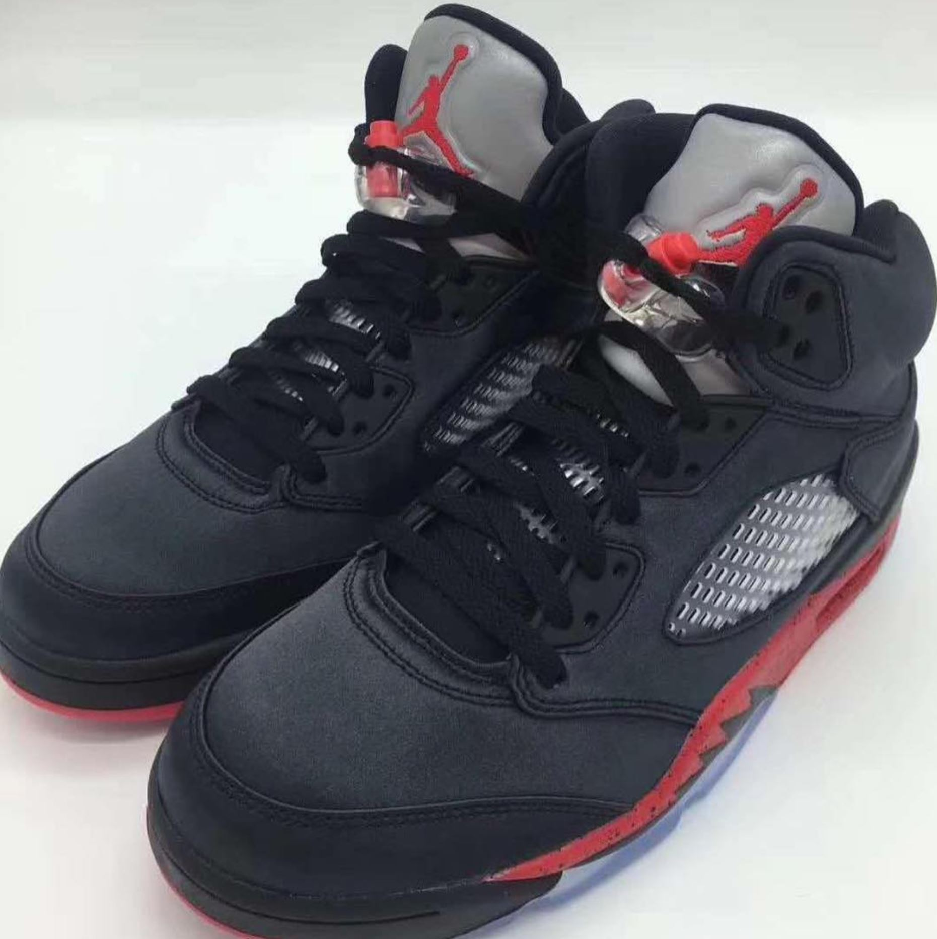 new style dc2e0 b0fc3 The Air Jordan 5 Satin 'Black/University Red' Will Drop on ...