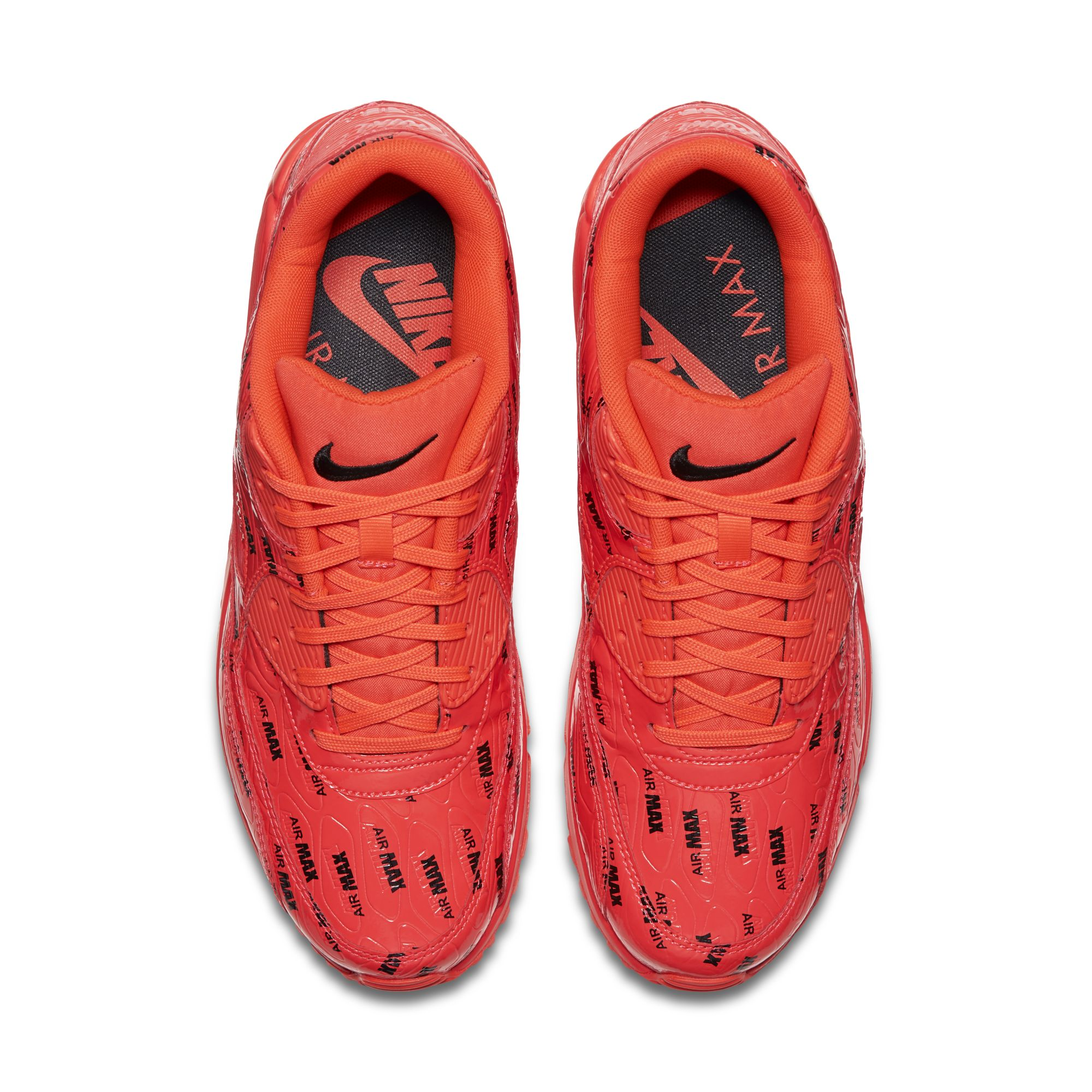 low priced afa16 75ffd nike air max 90 premium logo red 1 - WearTesters