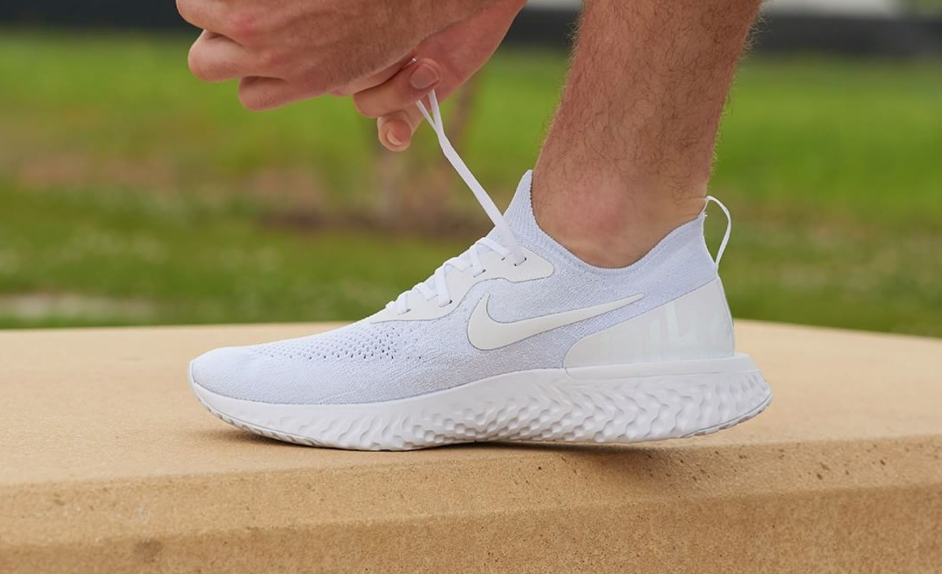new arrivals 633f4 1c1b3 Triple White' Nike Epic React Flyknit and Air VaporMax 2 ...