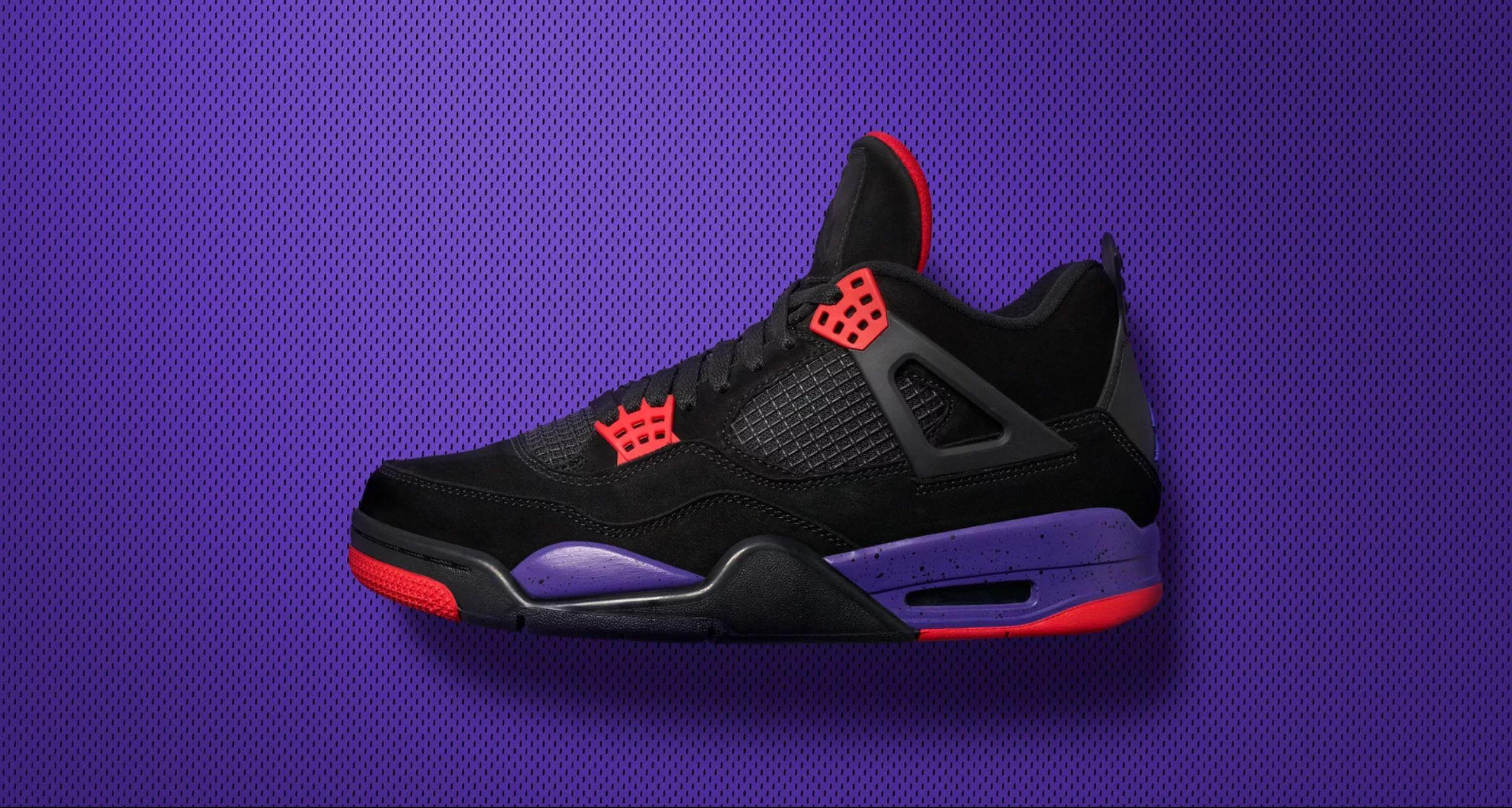 The Air Jordan 4 'Black/Court Purple