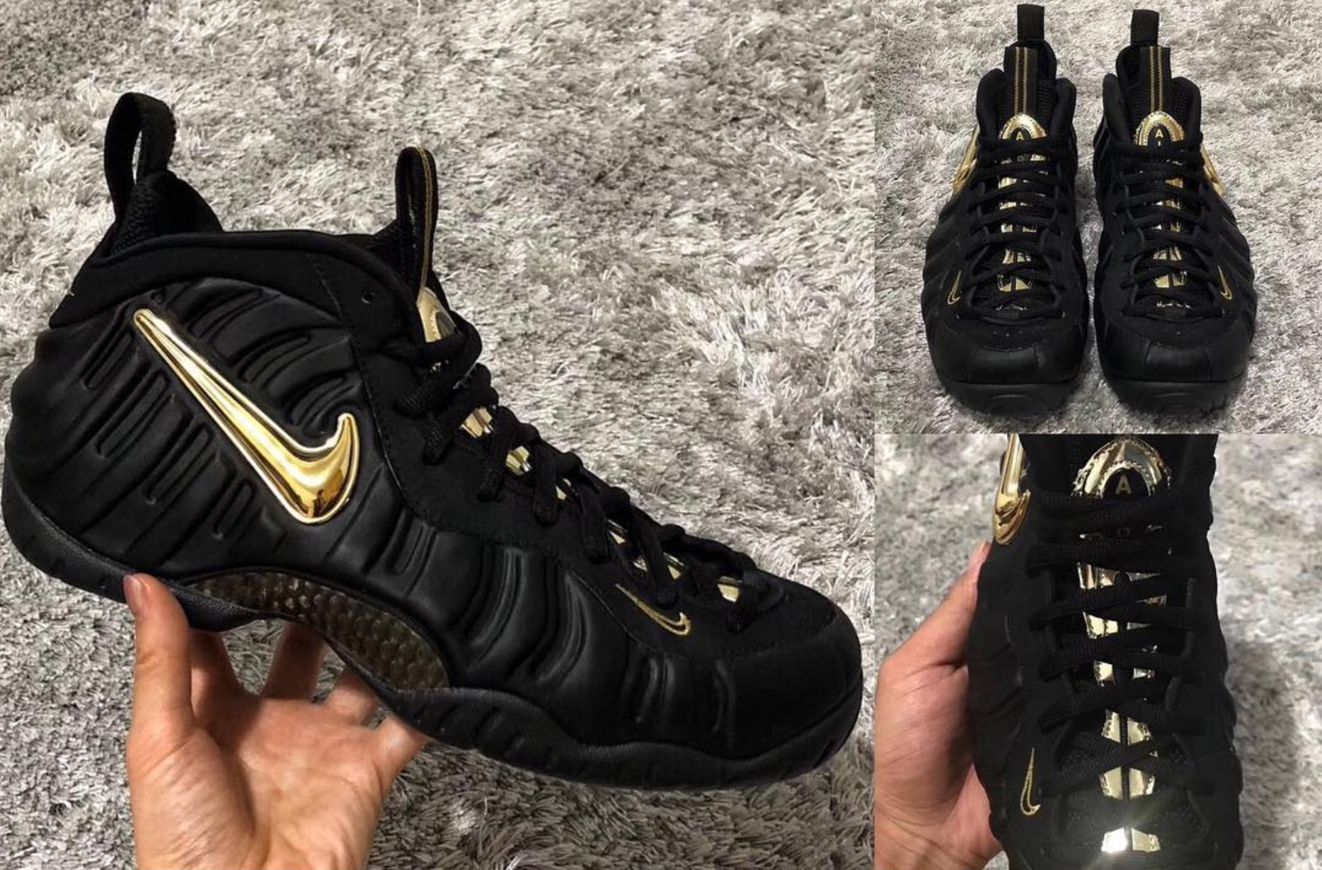 the latest 45547 da08a New Air Foamposite Pro 'Black/Metallic Gold' Leaks Ahead of ...