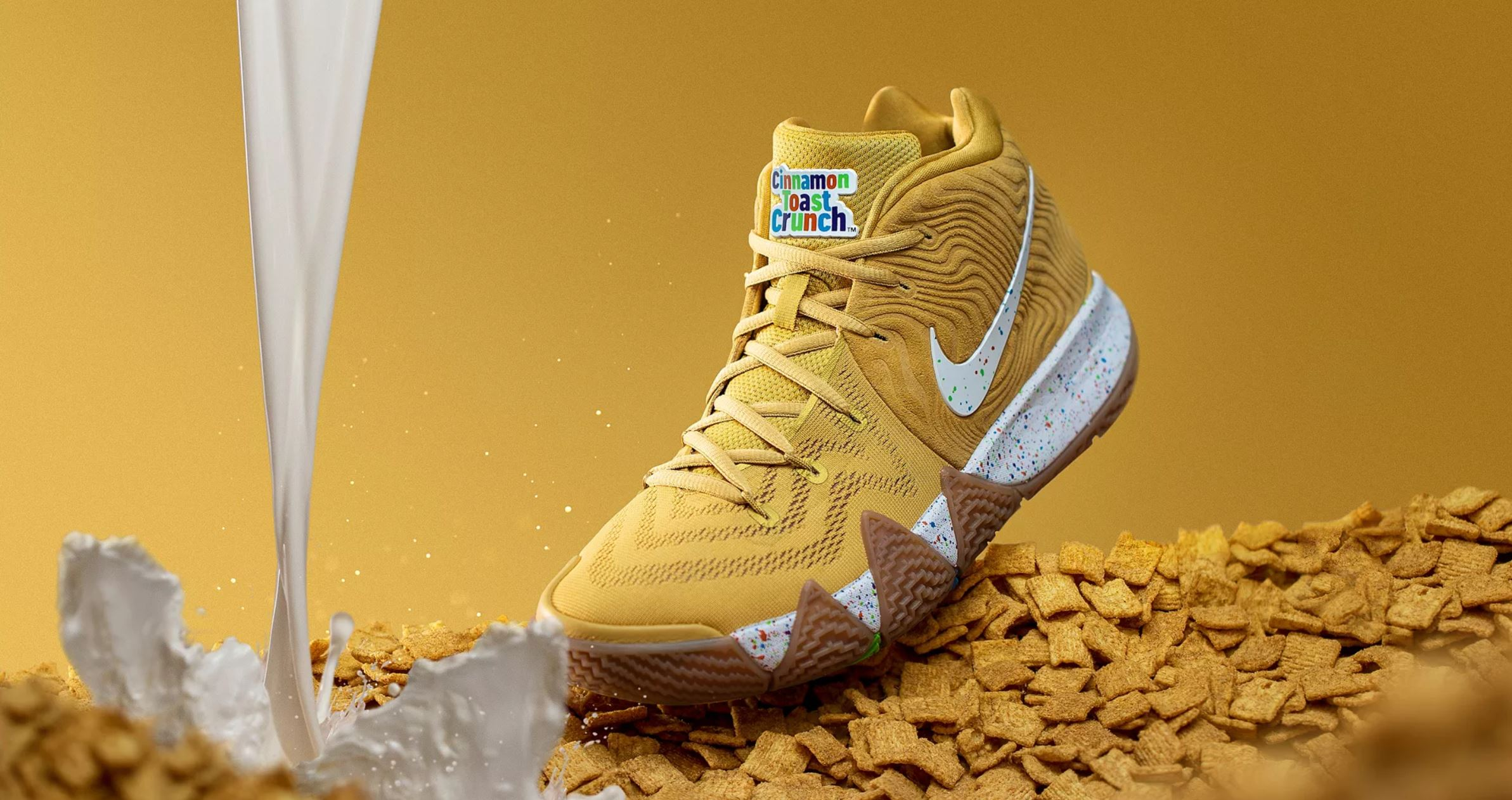 online store 64a67 560c3 Nike Unveils Kyrie 4 'Cereal Pack' with Lucky Charms, Kix ...