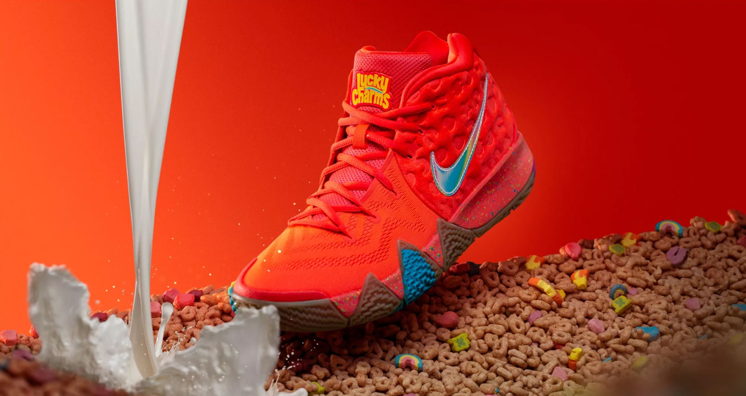 online store 2564f 69759 Nike Unveils Kyrie 4 'Cereal Pack' with Lucky Charms, Kix ...