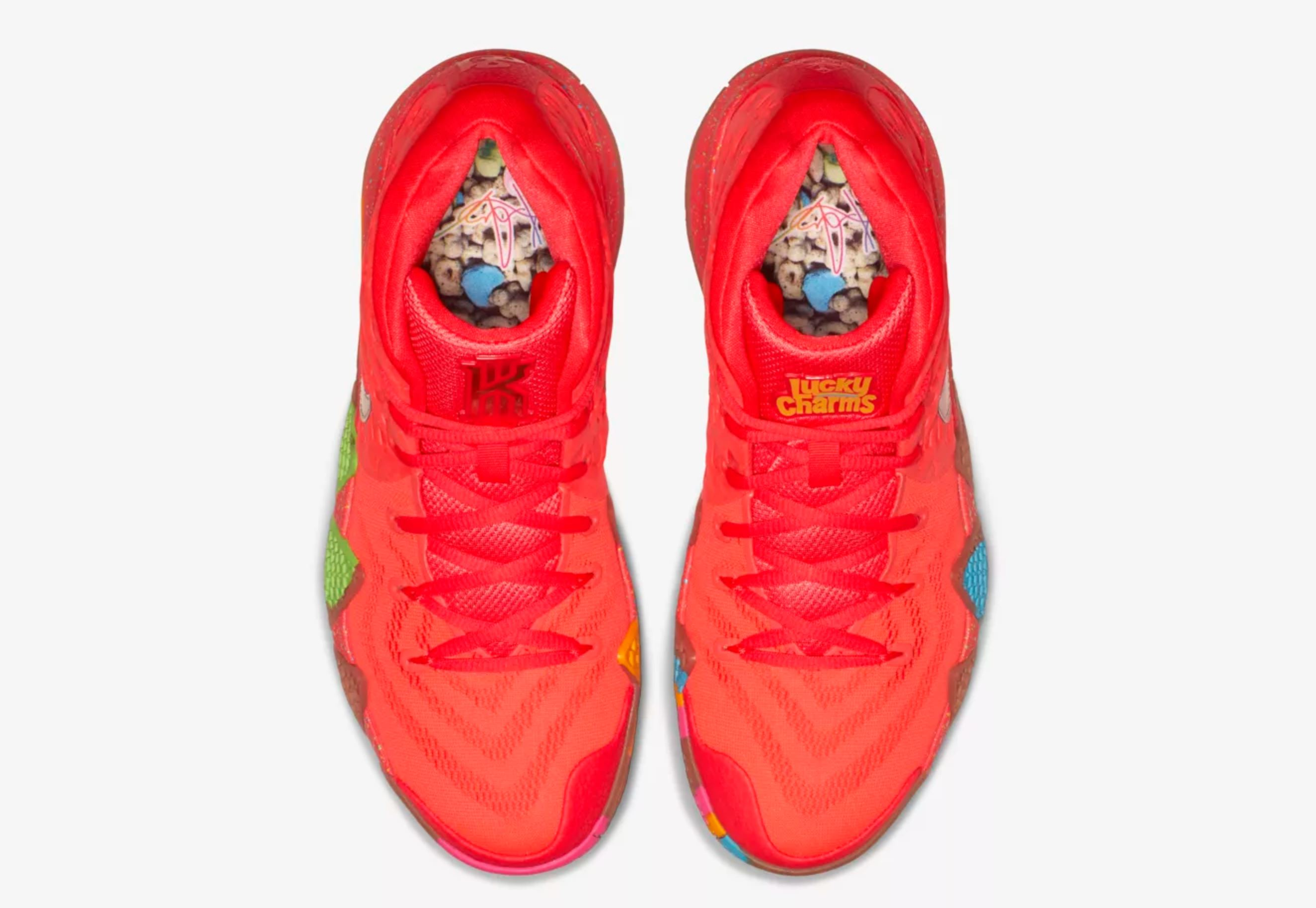 online store faf6c b0f13 Nike Unveils Kyrie 4 'Cereal Pack' with Lucky Charms, Kix ...