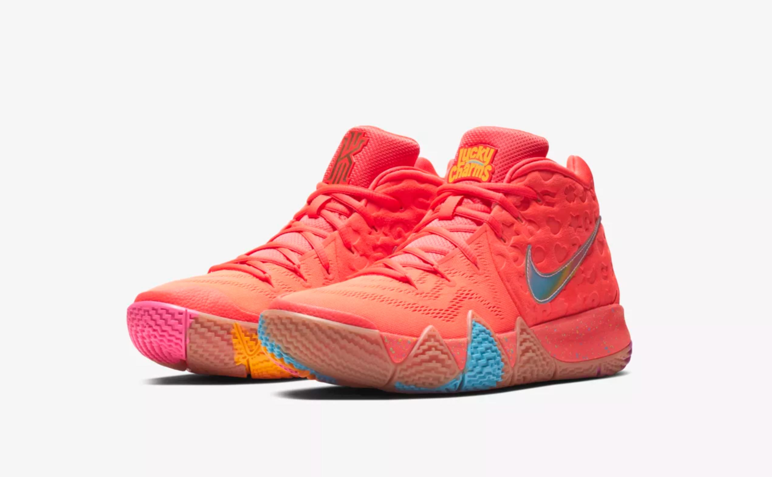 online store 94233 41d4c Nike Unveils Kyrie 4 'Cereal Pack' with Lucky Charms, Kix ...