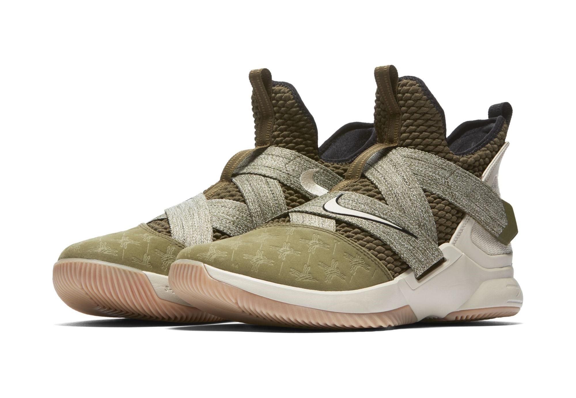 best sneakers 43f6e 67408 This Nike LeBron Soldier 12 Gets Debossed Suede Toes ...