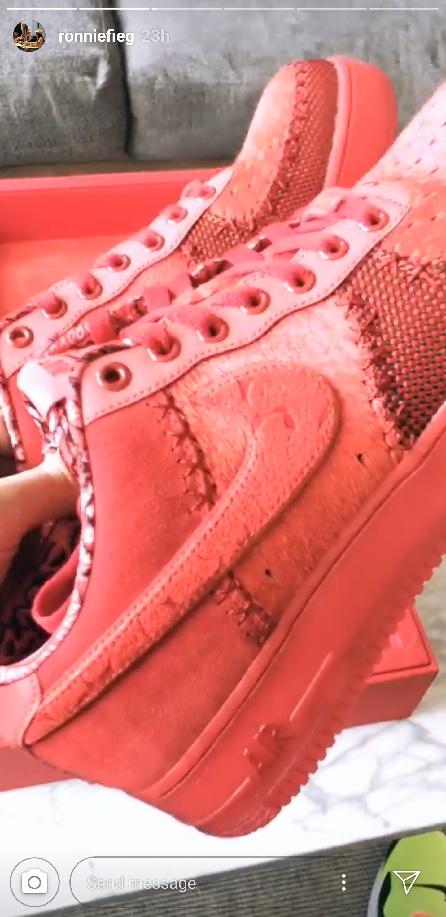 big sale a3b42 c9ea0 Ronnie Fieg Shows Off Rare 'OBJ' Air Force 1 Low - WearTesters