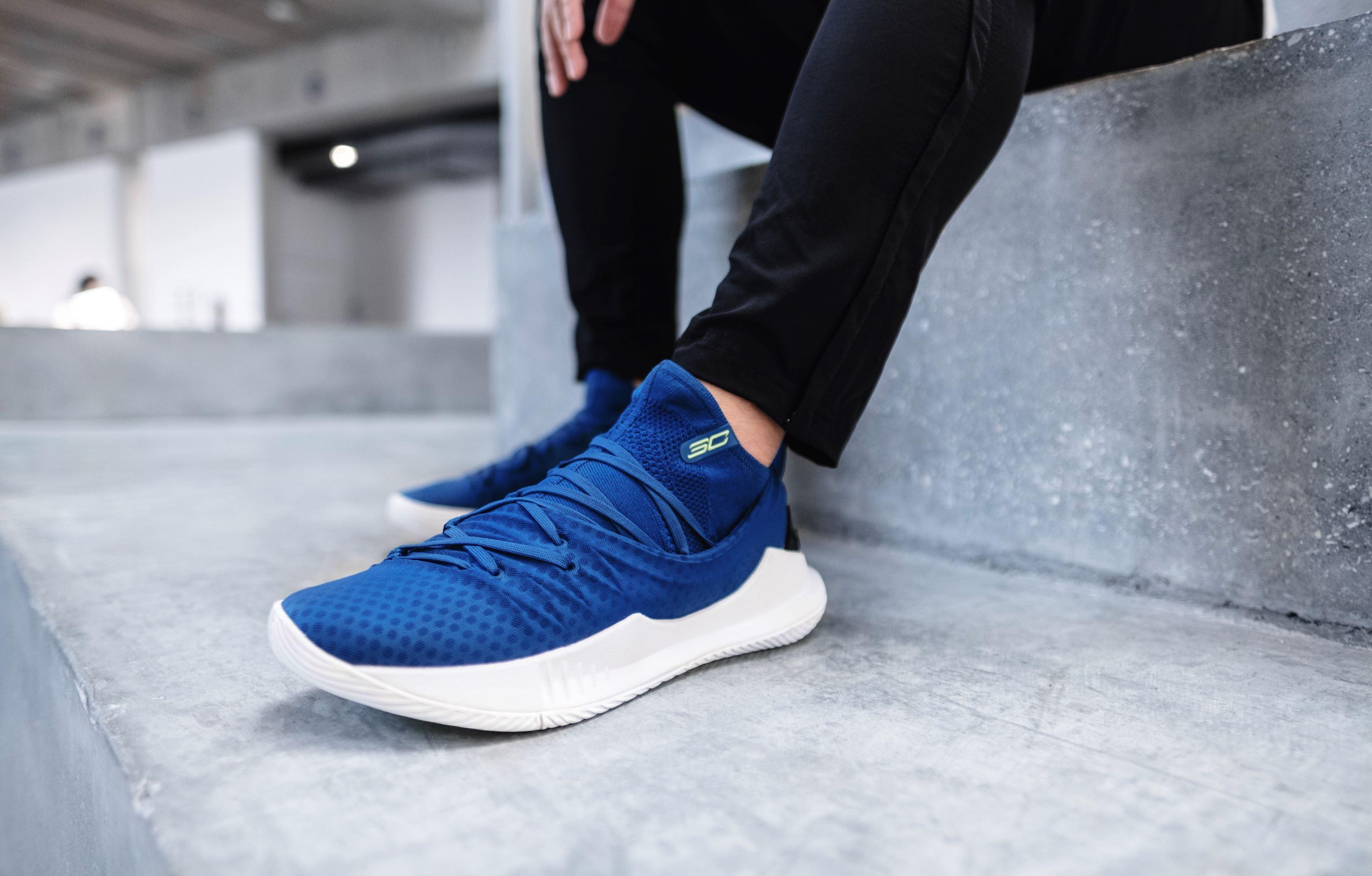 online retailer 7d195 4b1a9 The UA Curry 5 'Moroccan Blue' Flaunts the Warriors' Blue ...