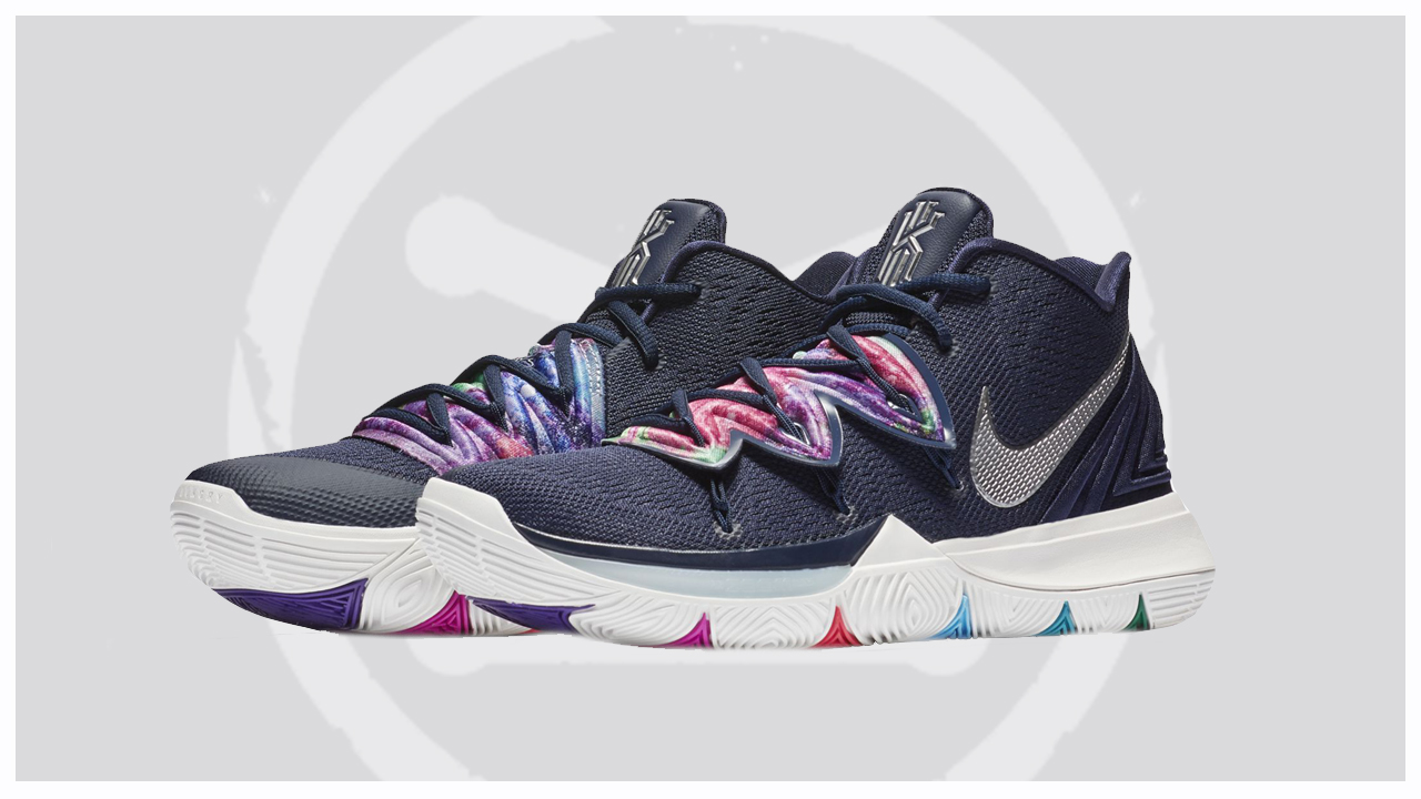 A Multi-Colored Nike Kyrie 5 is