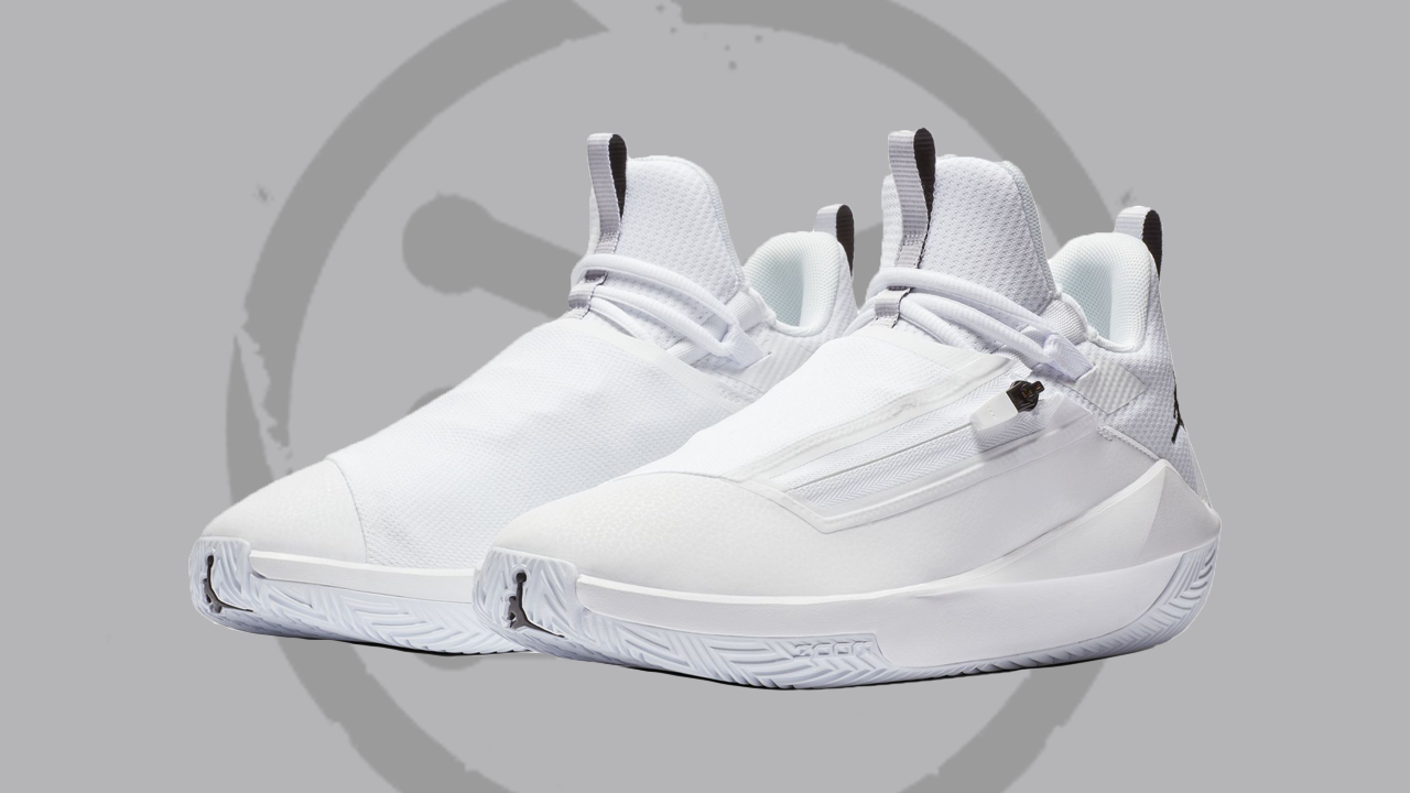 mermelada Pies suaves ironía  A 'Triple White' Jordan Jumpman Hustle has Been Spotted - WearTesters