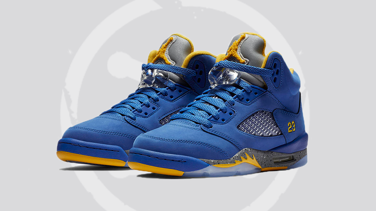 blue and yellow jordan 5s Shop Clothing