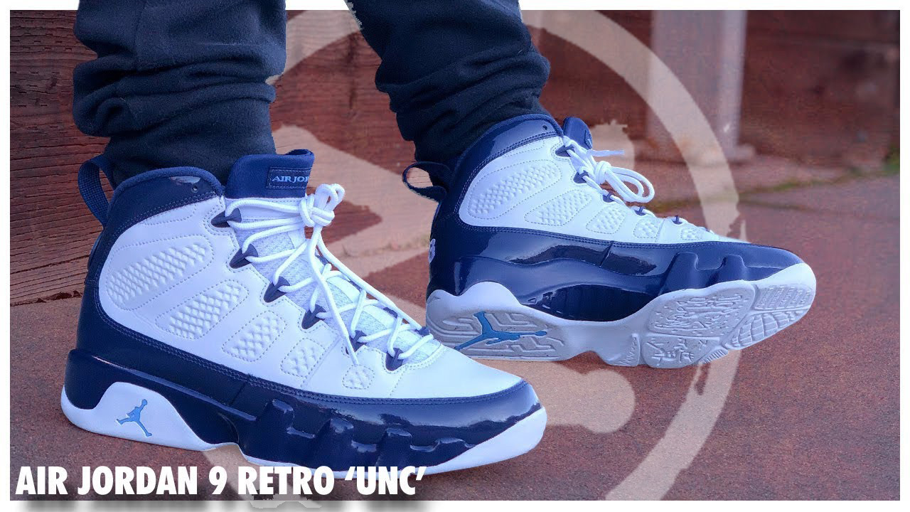 purchase cheap c7292 9e095 Air Jordan 9 Retro 'UNC' | Detailed Look and Review ...