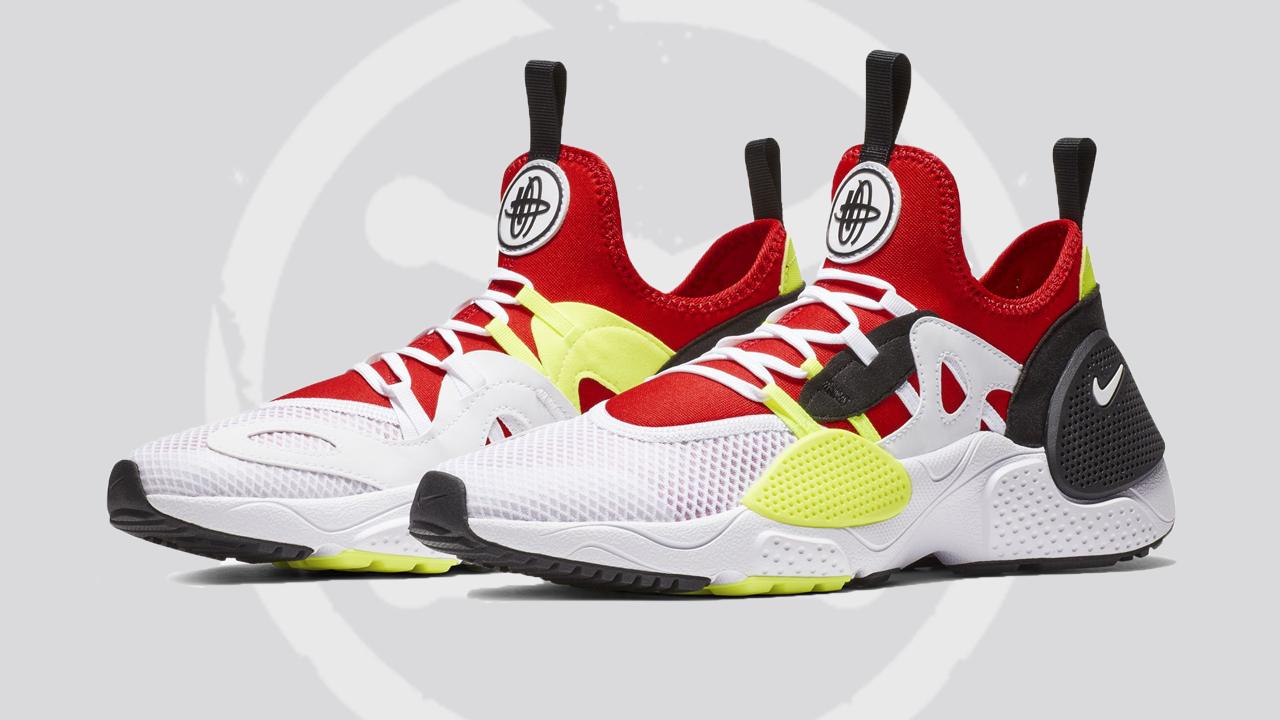 A 'White/University Red' Nike Huarache