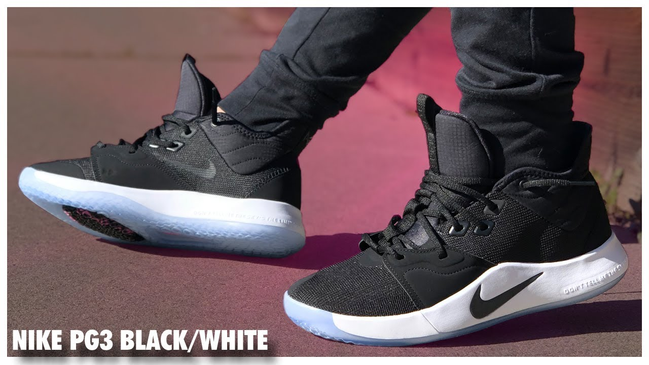 buy online 00024 7bf48 Nike PG3 Black/White | Detailed Look and Review - WearTesters