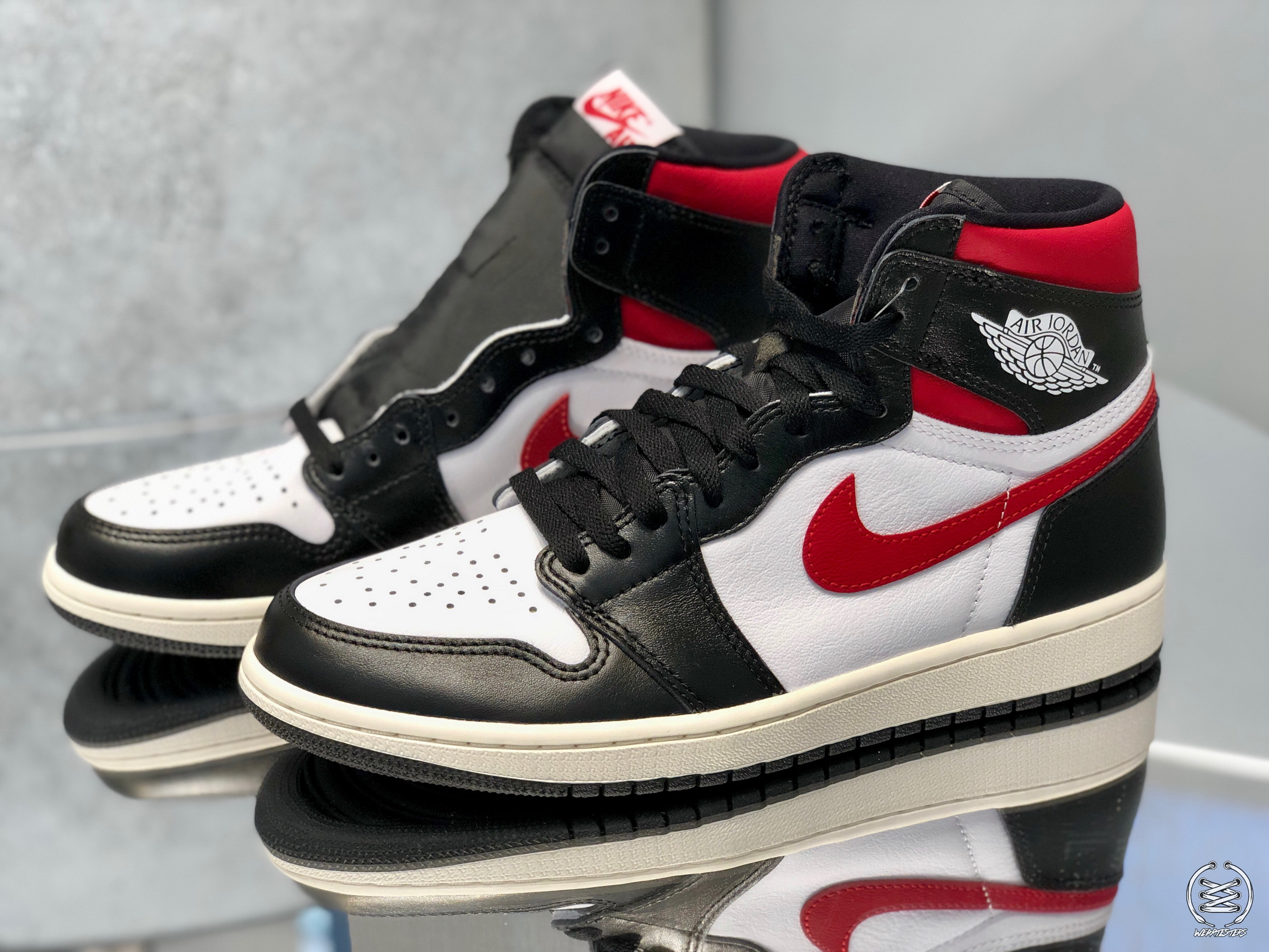 A Detailed Look at the Air Jordan 1 High OG Black/White-Red ...