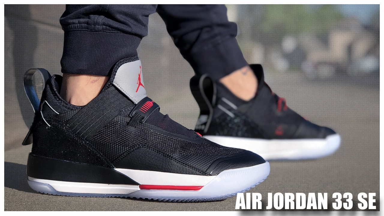 sports shoes c294a 3383f Air Jordan 33 SE Black/Cement | Detailed Look and Review ...