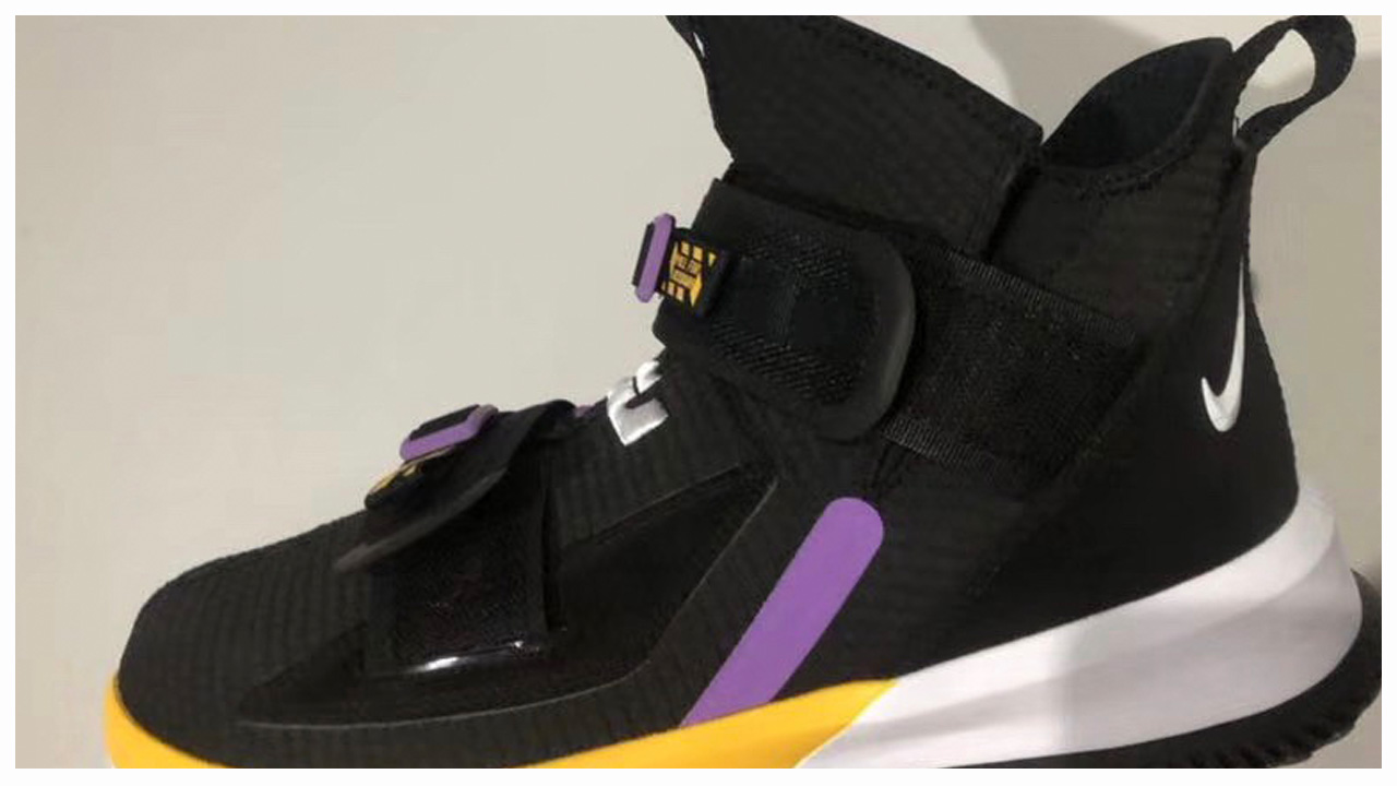 the latest f9a5f 7b6ed Lakers Colors Appear on What Could be the Nike LeBron ...
