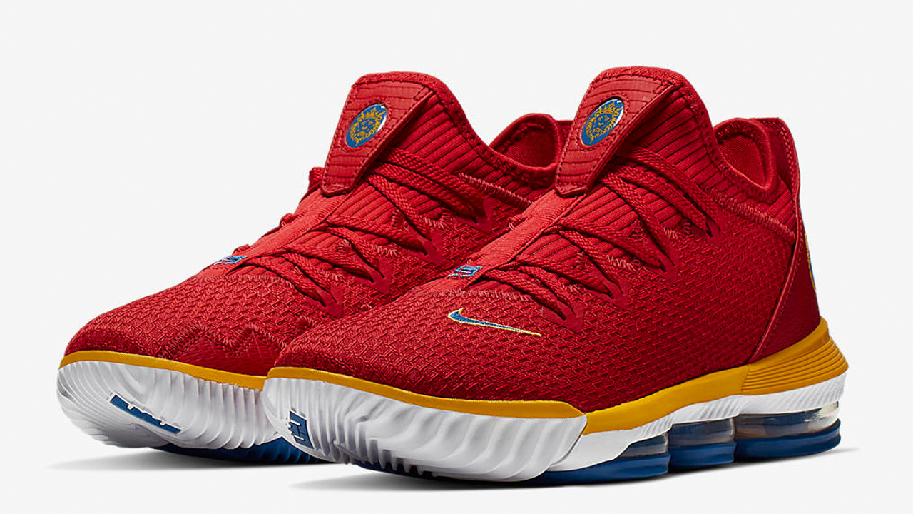 finest selection e2c4a d15a3 An Official Look at the Nike LeBron 16 Low 'University Red ...